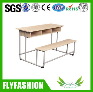 Wooden 3 Seats Combo School Desk and Bench (SF-40D) pictures & photos