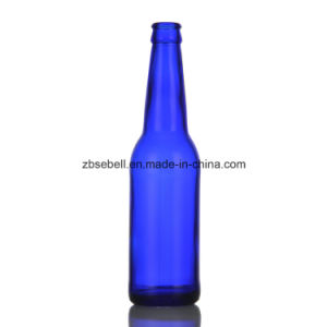 330ml (12oz) Glass Beer Bottle in Amber Blue Color pictures & photos