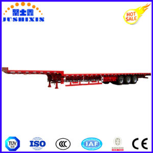 3axles Excavator Transport Gooseneck Flatbed Semi Trailer pictures & photos