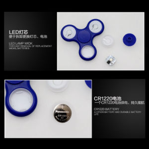 Factory Stock LED Hand Fidget Spinner with Switch Battery Replace pictures & photos