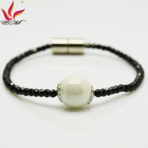 Spb-001 New Fashion Bracelet Black Super Flash Spinel Bracelet Germanium Bracelet pictures & photos