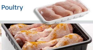 with Absorbent Pad Supermarket Display Safety Food Grade PP Meat Tray pictures & photos