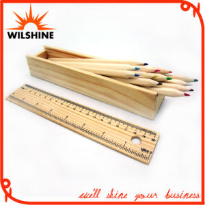 7′ Wooden Color Pencil with Ruler Lid for Gift (MP013) pictures & photos