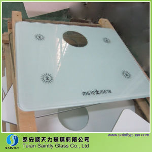 6mm White Printing Tempered Glass Covers for Electric Scale Top pictures & photos