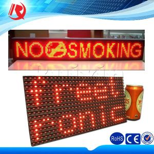 Red Tube Chip Color Outdoor LED Display Screen WiFi Controlled Scrolling Text Display Billboard pictures & photos