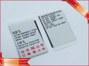 Washing Care Label Garment Woven Fabric Flag Label pictures & photos
