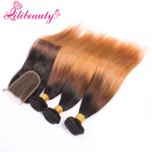 Lace Top Closure Indian Human Hair Closure with Bundles pictures & photos
