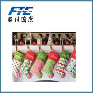 Promotional Christmas Plush Printing Stocking pictures & photos