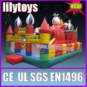 Children play inflatable jumping castle playground outdoor pictures & photos