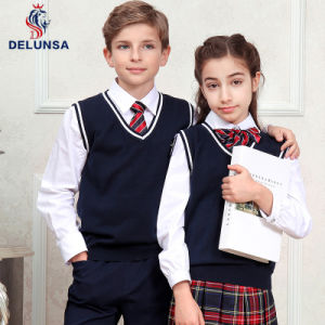 High Quality Black School Uniform Vest pictures & photos