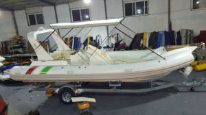 22.3feet Rib680 Boat Inflatable Boat Fishing Boat Rigid Inflatable Boat with Hypalon or PVC pictures & photos