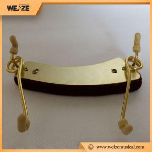 Good Price Adjustable Steel Violin Shoulder Rest Cloth Surface pictures & photos