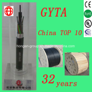 GYTA 96 Core Stranded Loose Tube Optical Fiber Cable with Single Mode for Duct Buried pictures & photos