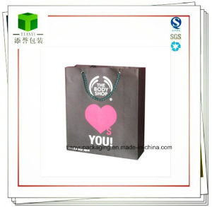 Customized Paper Bag with Ribbon Handle pictures & photos