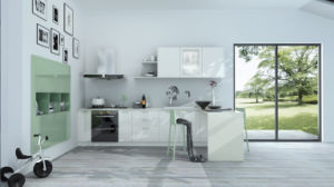 High Glossy UV Lacquer Kitchen Cabinet (zz-076) pictures & photos