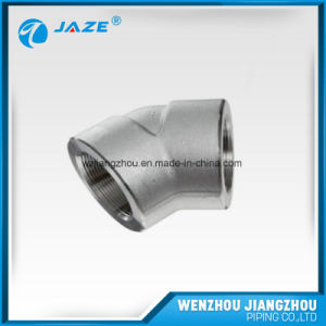 Forged Steel Threaded 45 Degree Elbow pictures & photos