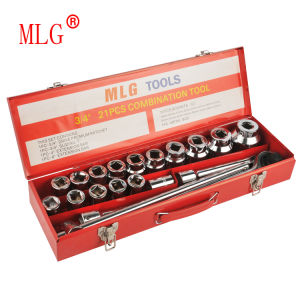 21PCS 3/4′′ Multi-Purpose Hex Socket Set Packed with Iron Box (MLG21)