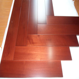 Guangzhou Stock Cheap Mahogany Modern Engineered Parquet Wooden Flooring pictures & photos