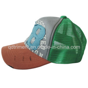 Print Applique Sponge Mesh Snapback Sport Trucker Hat (TMT0082-1) pictures & photos