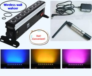 8X8w Wireless Battery Powered Remote Control DMX Stage Light LED Wall Washer Light pictures & photos