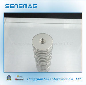 Customized Permanent Neodymium Magnet NdFeB with Counterbore Hole pictures & photos