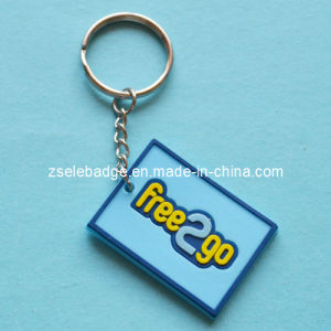 Promotional Rubber PVC Keyrings with Matched Color pictures & photos