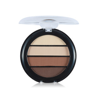 4 Colors Matte Eyeshadow Palette Nude Eye Shadow with Mirror & Brush Set Es0330 pictures & photos