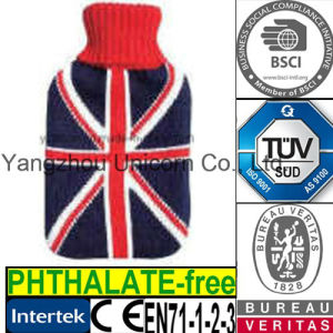 CE British UK Flag Hot Water Bottle Cover