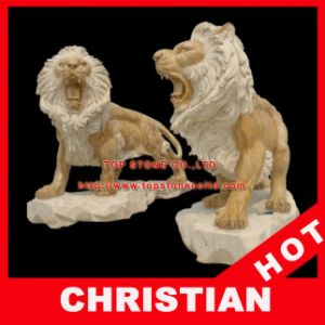 Animal Marble Statue Lion Stone Sculpture pictures & photos