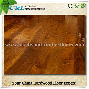 Hot Sale Prefinished American Black Walnut Wood Flooring pictures & photos