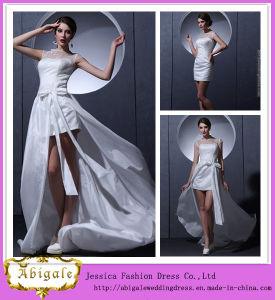 New Hot Short Taffeta Cap Sleeve Scoop Elegant Sheath Detachable Skirt Prom Dresses Yj0063