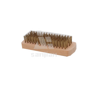 The Newest Japan Style Brass Wire Brush with Wooden Handle, Brush Steel Wire Brush Cleaning Brush (SJIE3111) pictures & photos