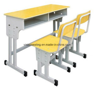 Adjustable Double School Student Classroom Chair and Table (7602) pictures & photos