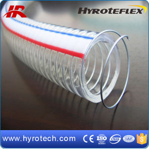 Transparent Steel Reinforced PVC Hose/Steel Wire Reinforced PVC Hose pictures & photos