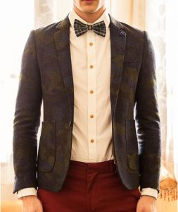 Tailor Made Men′s Bespoke Fashion Suits (ST215-11)