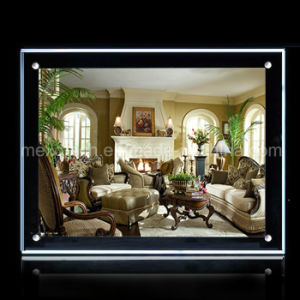 Desktop Crystal Picture Frame LED Acrylic Light Box (CST01-A4L-11) pictures & photos