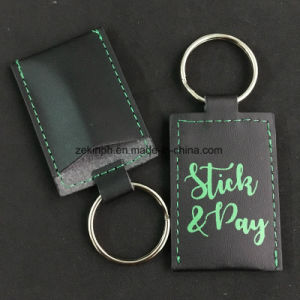 Custom PU Leather Keychain with Printed Logo pictures & photos