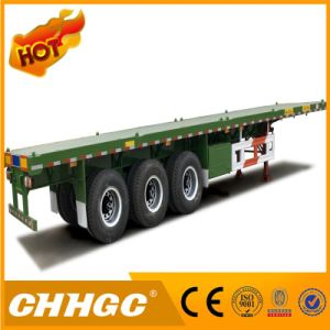 Fuwa Axle 40FT Contatiner Flatbed Semi Trailer for Sale pictures & photos