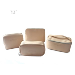 New Fashion Custom Cross Pattern PVC Leather Cosmetic Makeup Lady Bag  pictures & photos