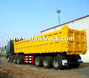 Strenthened Heavy Duty Rear Tipping Semi Trailer (HTC9400ZHX) pictures & photos