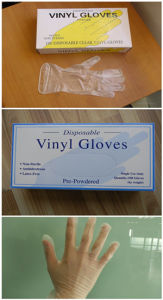 High Quality PVC Vinyl Gloves for Medical with ISO pictures & photos