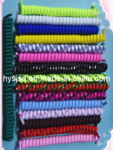 Elastic No Tie Curly Shoelace pictures & photos