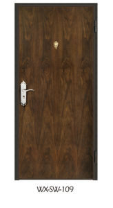Expert Supplier Steel Wooden Door (WX-SW-109) pictures & photos