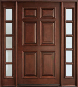 China best selling products high end exterior wood doors for High end entry doors