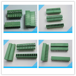 PCB Mount 5.0mm 5.08mm Pitch Pluggable Terminal Block pictures & photos