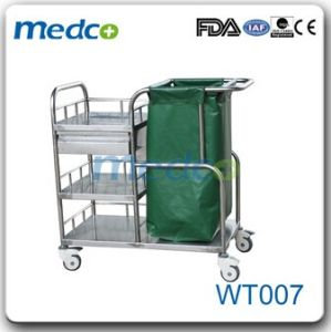 Hospital Stainless Steel/ Linen Cleaning Trolley pictures & photos