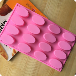16 Cavity Oval Silicone Mold for Soap, Cake, Cupcake, Brownieand More pictures & photos