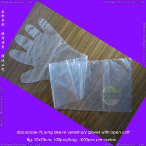 Disposable Arm Length Veterinary Gloves pictures & photos