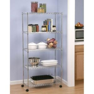Adjustable Assembly Chrome Wire Shelving Rack (CJ7535180B5CW) pictures & photos