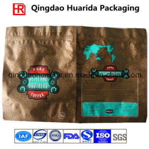 Plastic Coffee Packaging Bag with Valve and Zipper pictures & photos